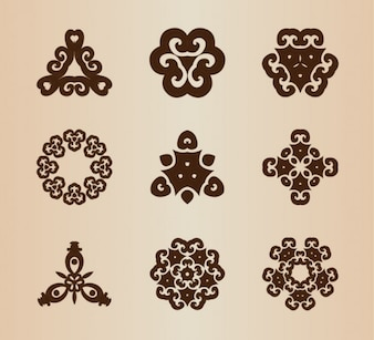 Vintage abstract shapes vector elements