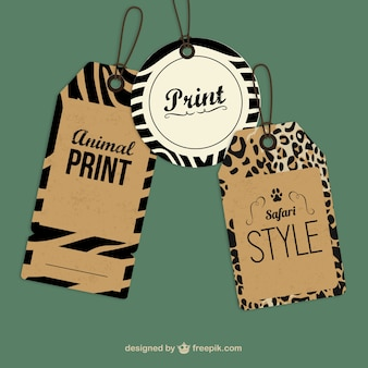 Vintage animal print tag label