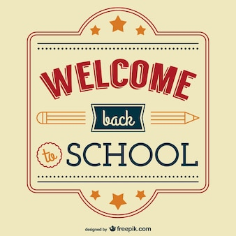 Vintage back to school vector