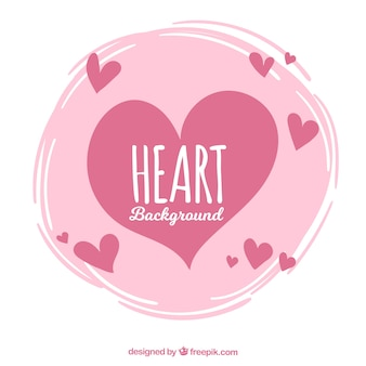 Vintage background of hearts