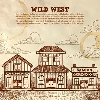 Vintage background of wild west