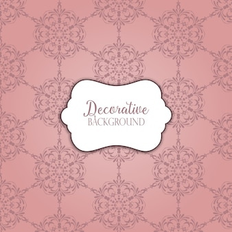 Vintage background with a decorative pattern design