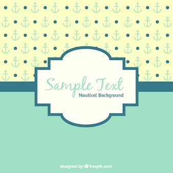 Vintage background with anchor and dots