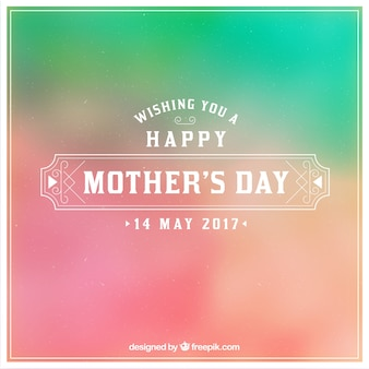 Vintage background with blurred effect for mother's day