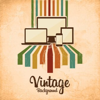 Vintage background with gadgets