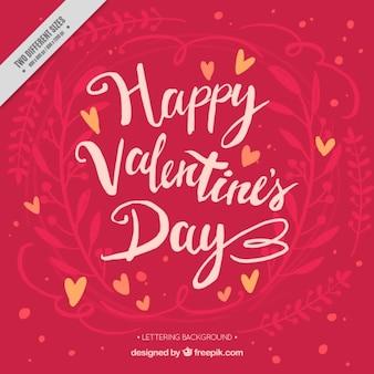 Vintage background with happy valentine's day message