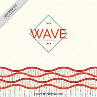 Vintage background with letter waves