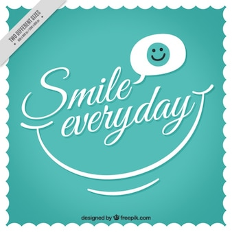 Vintage background with phrase  smile everyday
