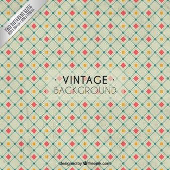 Vintage background with squares