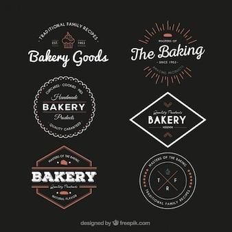 Vintage bakery badges