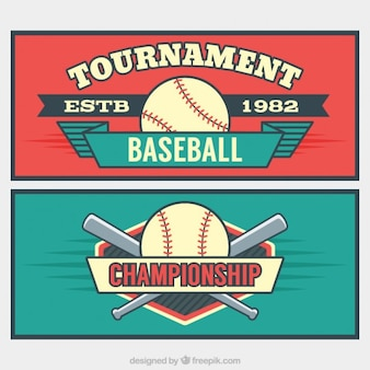 Vintage banners of tournaments