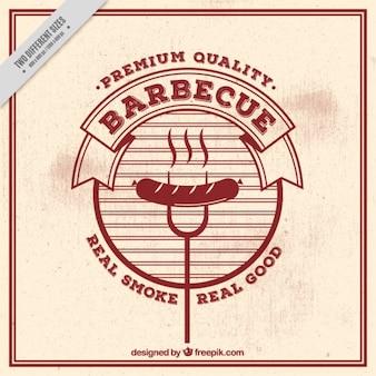 Vintage barbecue background
