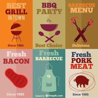 Vintage barbecue templates