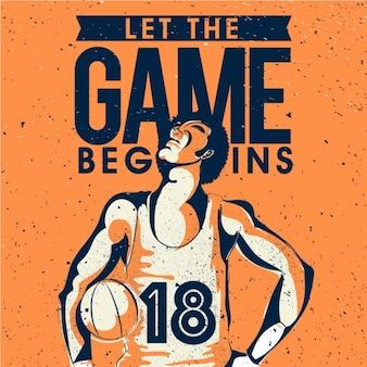 Vintage basketball background