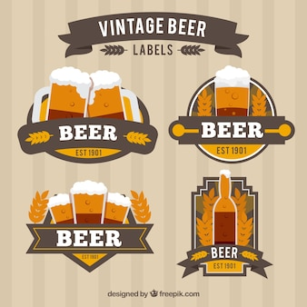 Vintage beer stickers