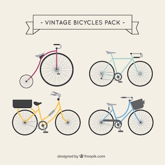 Vintage bicycles pack