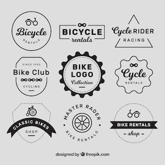 Vintage bike logos with elegant style
