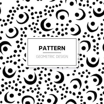 Vintage black and white doodle pattern