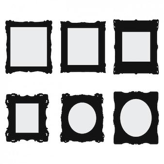Vintage black frames design