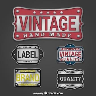 Vintage brand plaques