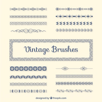 Vintage brushes pack
