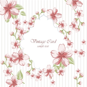 Vintage card design