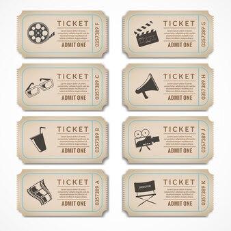Vintage cinema tickets collection