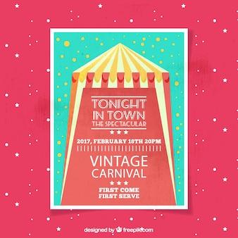 Vintage circus brochure