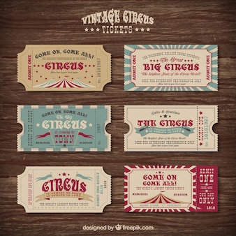 Vintage circus tickets collection