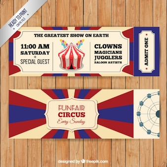 Vintage circus tickets pack