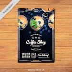 Vintage coffee shop brochure