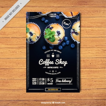 Vintage coffee shop brochure