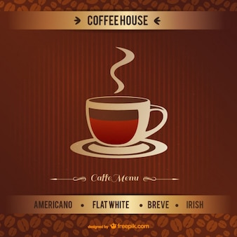 Vintage coffeehouse vector
