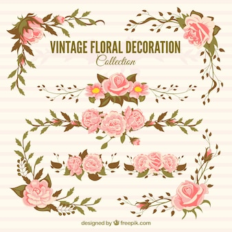 Vintage collection of awesome floral decoration