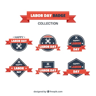 Vintage collection of labor day badges
