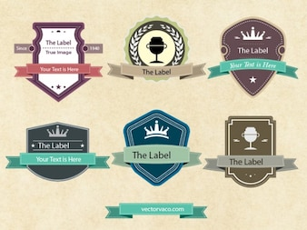 Vintage Corporate Labels Vector