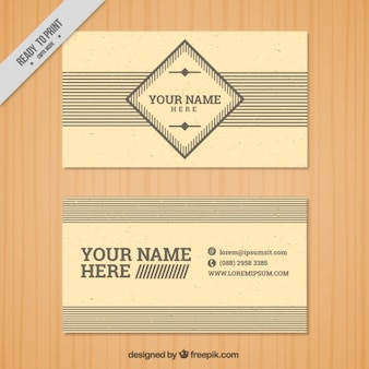Vintage corporative card with lines