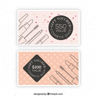 Vintage cute linear cosmetics discount banners