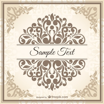Vintage damask style template