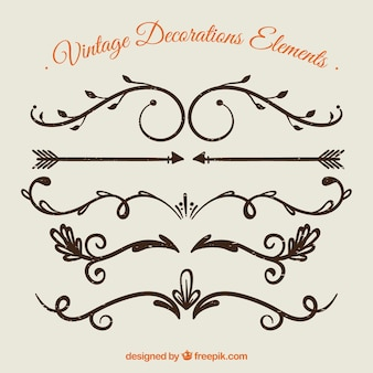 Vintage Decoration Element Collection