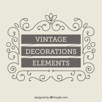 Vintage Decoration Elements