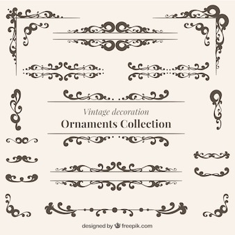 Vintage decoration ornaments collection