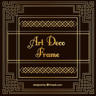 Vintage decorative art deco frame