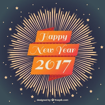 Vintage decorative happy 2017 background
