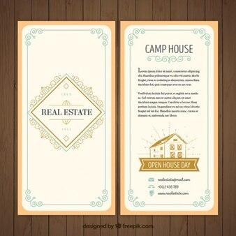 Vintage decorative real estate flyer