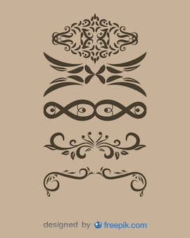 Vintage Decorative Text Dividers Collection