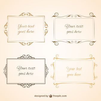 Vintage design frames collection