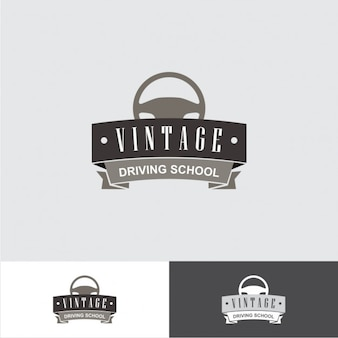 Vintage driving school logo