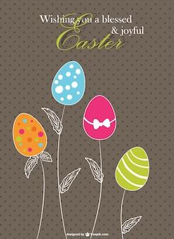 Vintage Easter floral design