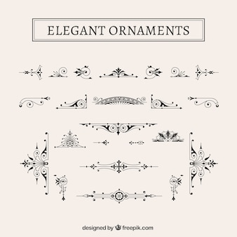 Vintage elegant ornaments pack